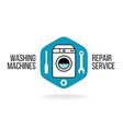 Washing machine logo vector image