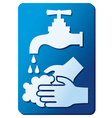 wash your hands sign vector image