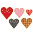 valentines with vintage pattern vector image vector image