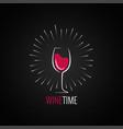 Wine glass menu design background vector image