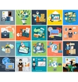 Set of business concepts on banners vector image