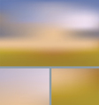 Blurred Abstract Nature Background Field vector image vector image