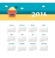 Sea Calendar for 2016 Week Starts Sunday vector image