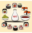 Colorful Sushi set vector image