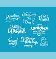 adventure logos collection travel icons clipart vector image
