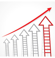 Business graph of arrow ladder vector image