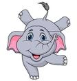 Cute elephant cartoon circus vector image