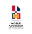 dominican republic mobile operator sim card with vector image