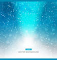 falling snow on the blue background with light vector image
