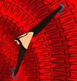 red dancing feet vector image