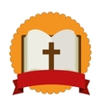 sacred holy bible icon vector image