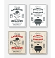 Set of four vintage barbecue party posters vector image