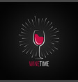 Wine glass menu design background vector image
