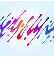 with Abstract Colorful Shape vector image