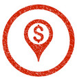 bank location rounded grainy icon vector image
