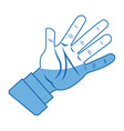 cartoon hand man business palm open icon vector image