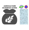 Grain harvest icon with agriculture set vector image