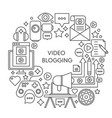 video blogging thin line concept vector image
