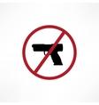 No firearms symbol vector image