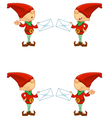 Red Elf Holding Letter vector image vector image