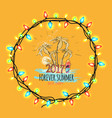 2017 forever summer best party vector image