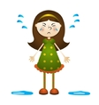 Cartoon of a little girl crying vector image