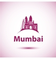 Mumbai India skyline silhouette black vector image