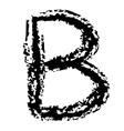 B Brushed vector image