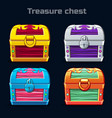 cartoon antique treasure chest in different colors vector image