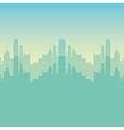 cityscape buildings isolated icon vector image