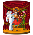 columbine harlequin and pierrot theater vector image