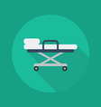 Medical Flat Icon Stretcher vector image