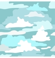 pattern with the image of clouds vector image
