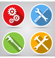Tools icon collection vector image