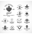 Vintage Halloween Badges or Labels vector image vector image
