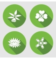 Flower icons set Anemone forget-me-not vector image