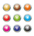 Set with colorful buttons vector image