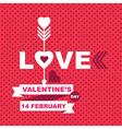 Valentines Day posterTypography vector image
