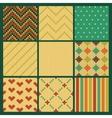 Set of seamless knitting patterns vector image