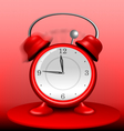 Red Alarm Clock Ringing Wildly vector image