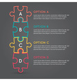 Business puzzle pieces infographic infographic b63 vector image