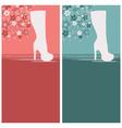 Women fashion boots floral design backgrounds vector image