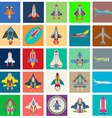 Abstract collection of colorful flat startup icons vector image