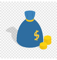 bag of money isometric icon vector image
