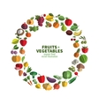 food fruit and vegetables icon set vector image