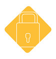 label padlock to have sacurity the special thing vector image