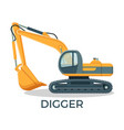 modern digger with round cabbint and huge ladle vector image