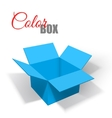 Realistic open box with shadows Transportation vector image