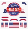 USA Flag day badge banners and ribbons vector image