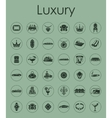 Set of luxury simple icons vector image